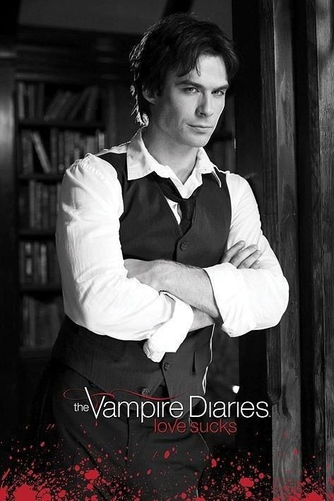 Damon Salvatore played by Ian Somerhalder in The Vampire Diaries.  o gods he looks like he's about to tell me off.....