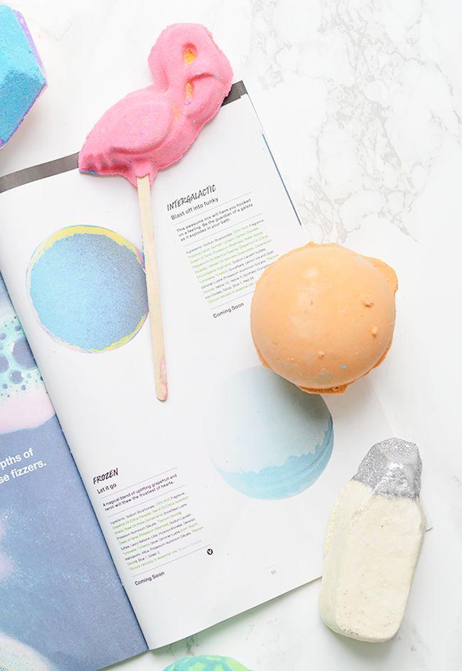 LUSH bath bombs and bubble bars for fall 2015   Pink Flamingo, Yoga Bomb, Milky Bath   oliveandivyblog.com