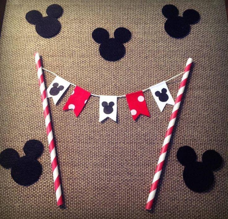 Birthday cake decoration for Minnie party