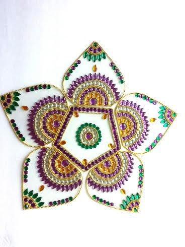 1000 images about kundan rangoli on pinterest acrylics for Agal vilakku decoration