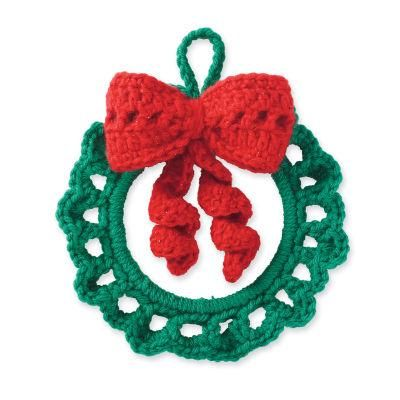 Cedar Lodge Crochet Wreath Ornament