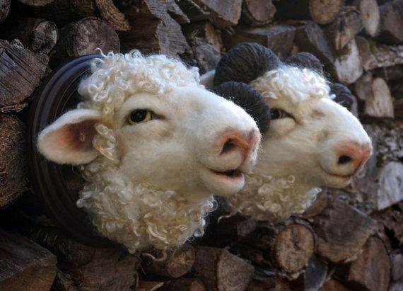Nadel gefilzt Tier Ram and/or Schafe Needlefelted weiche Skulptur Tier von Bella McBride                                                                                                                                                                                 Mehr