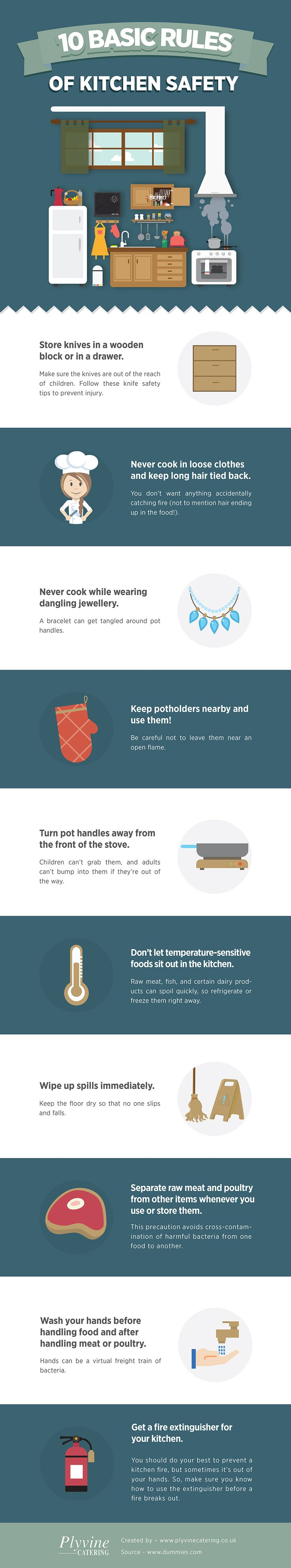 kitchen safety rules for baking