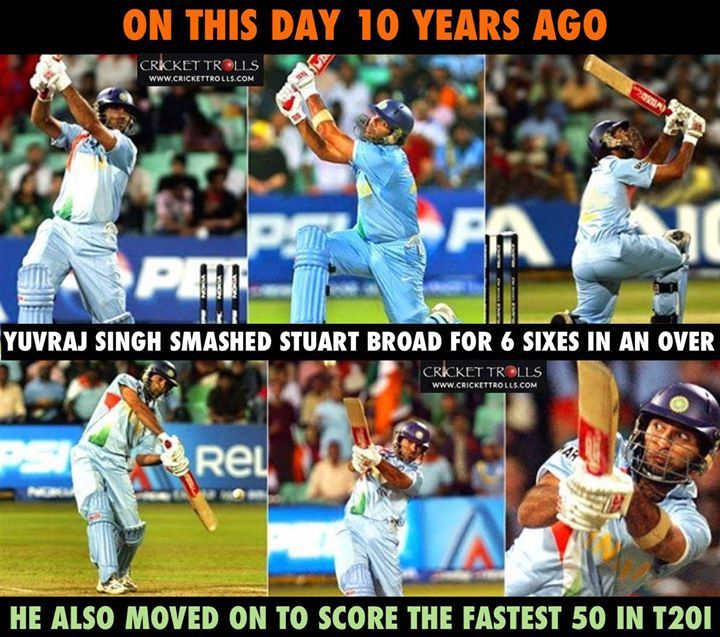 On this day in WT20 2017 Yuvraj Singh created records against England #WT20 #INDvENG #ENGvIND - http://ift.tt/1ZZ3e4d