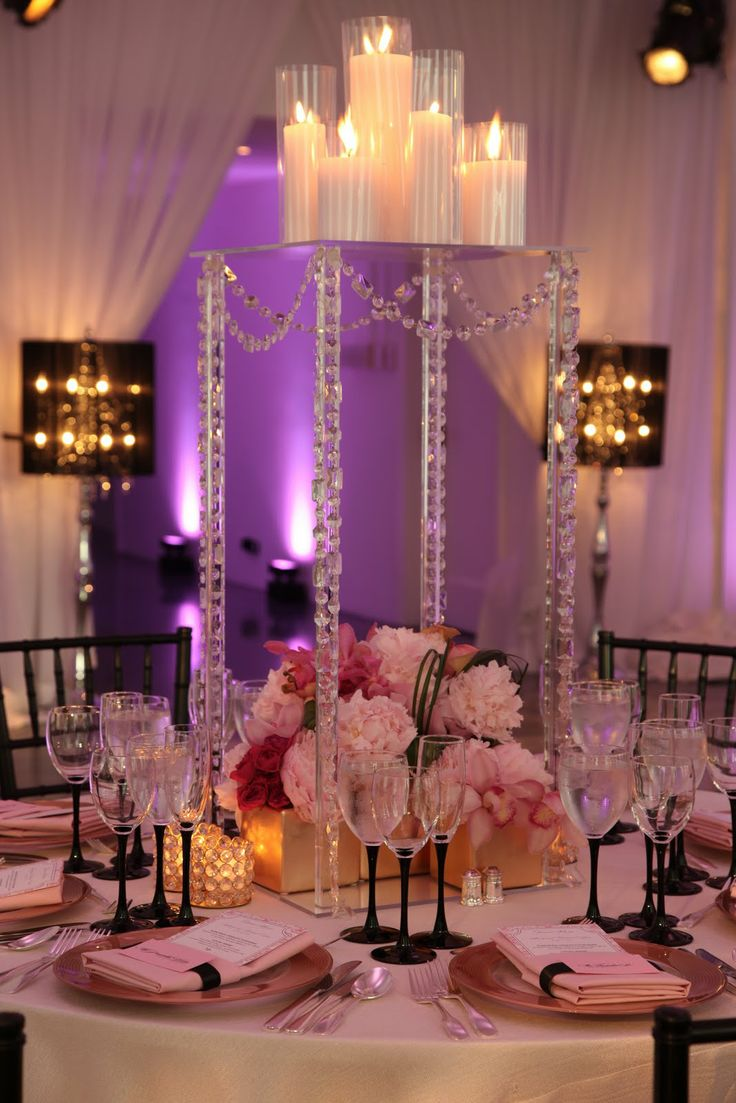 Over the top wedding decorations   best Tall Centerpieces images on Pinterest  Floral arrangements