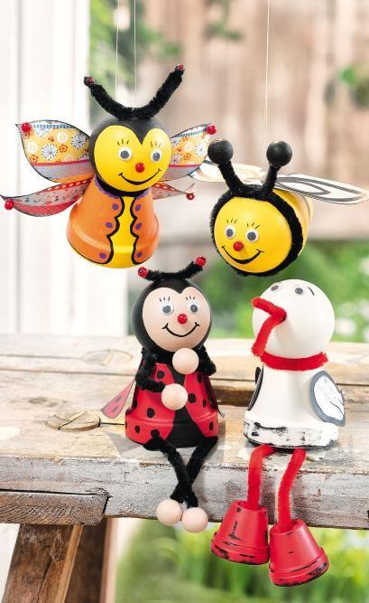 Figurines rebord d'étagère en pots en terre cuite - Loisirs créatifs à petits prix VBS Hobby Service