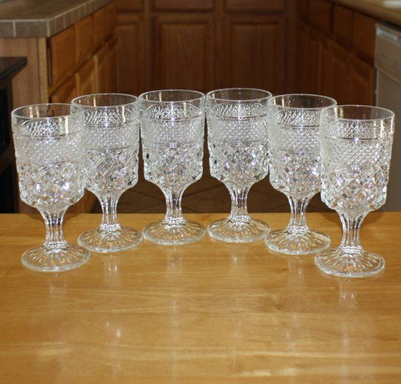 Stemmed Glass Claret//Wine Wexford Anchor Hocking Crystal