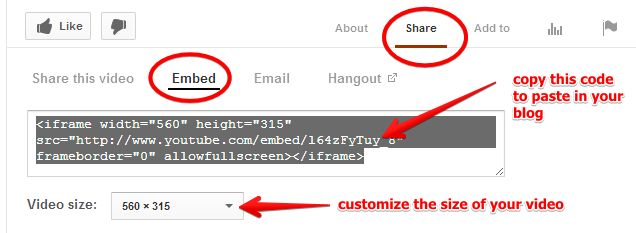 This is how to Embed YouTube Videos in your Blog ~ Educational Technology and Mobile Learning