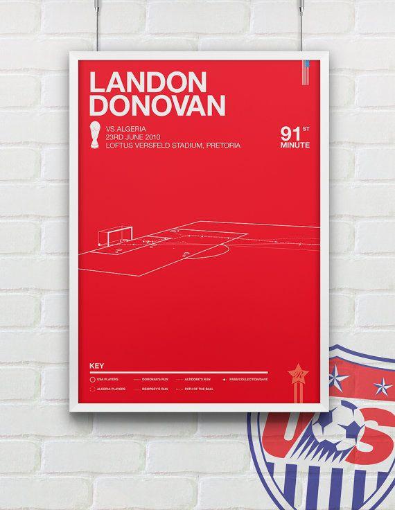 Landon Donovan vs Algeria Giclee Print  83 by Rincks on Etsy