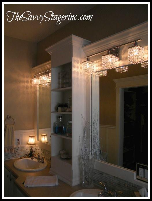 Framed Bathroom Mirror With Shelf best 25+ bathroom mirror with shelf ideas on pinterest | framing