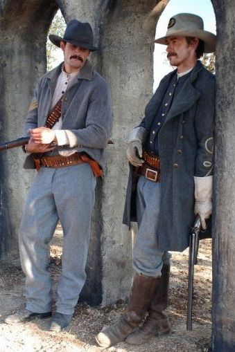 James Lafferty (Eigson Howard) and Robert Buckley (Bacas Mitchell) in THE LEGEND OF HELL'S GATE: