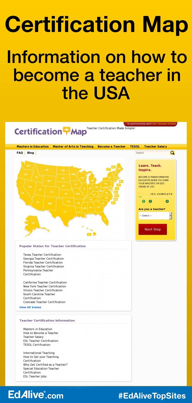 Certification Map | Information on how to become a teacher in the USA | Become a…