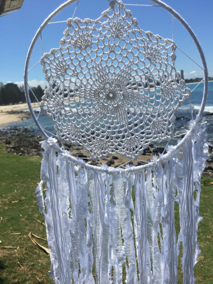 Dreamcatcher Hand Made - White Boho with Doily by DreamcatchersByIsale on Etsy