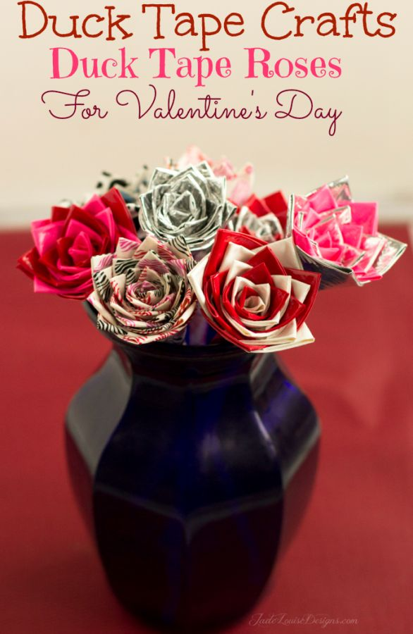 How to make Duck Tape Roses Duck Tape Crafts via @2creatememories