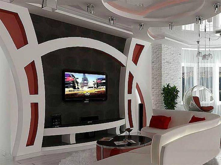 гипсокартонные конструкции под телевизор фото американские