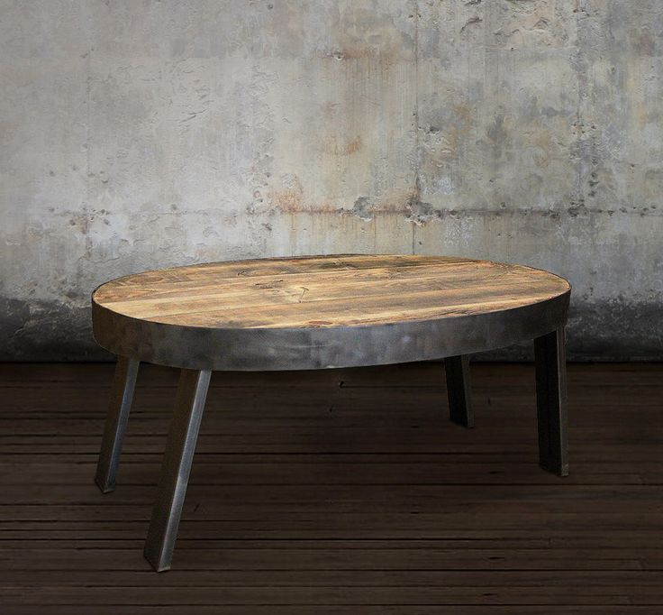 Oval Coffee Table, Reclaimed Wood, Industrial by AtlasWoodCo on Etsy https://www.etsy.com/listing/504107739/oval-coffee-table-reclaimed-wood