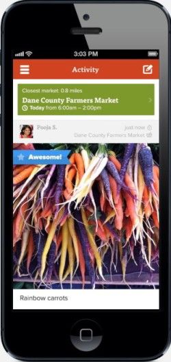 Terrific app to help you find all the Farmer's Markets near you. And free!