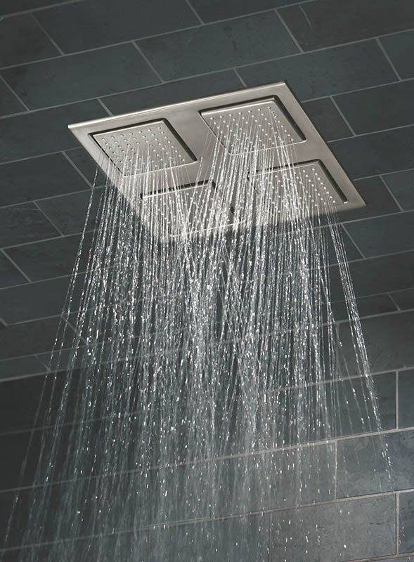 watertile rain shower overhead shower head with 1