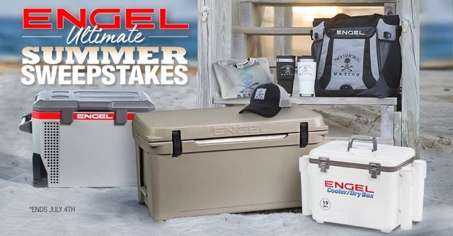Enter to win a weekly prize of 1 Engel Backpack Cooler and 2 Engel Tumblers.  On July 4th, one lucky winner will be chosen to go home with the ULTIMATE Engel Summer Bundle, valued at over $1500.