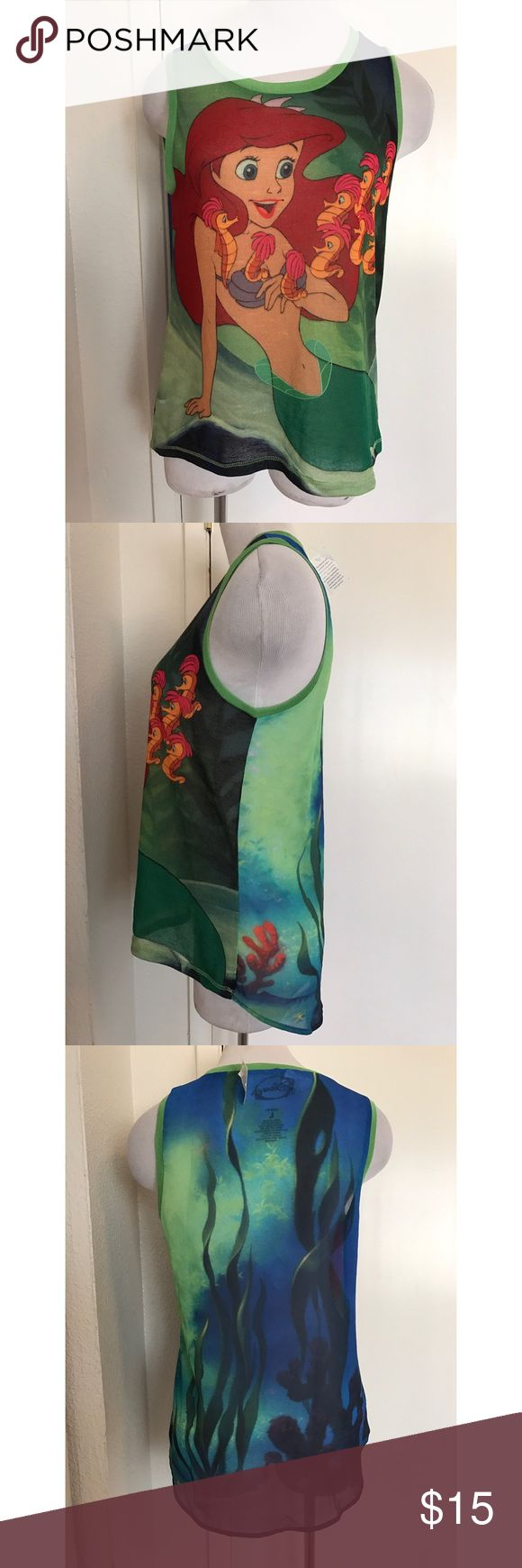 Disney Little Mermaid  Multi Color Shirt Large New With Tags! Size: Large. Brand: Disney. Material: 100% Polyester Disney Tops Tees - Short Sleeve