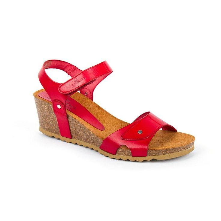 16Cadiz026Rojo - Sandal bio Yokono Cadiz-026 Red Leather