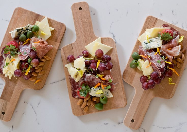 Individual Cheese and Charcuterie Boards. How cute are these for your next party? Salt & Honey Catering – food that feeds the soul