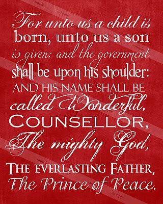 Scipture print @ http://proclamationpictures.blogspot.com/2011/11/christmas-scripture-print.html