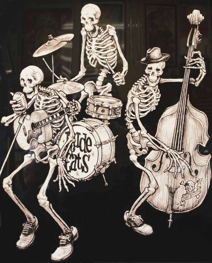 Skulls & Skeletons-Rude Cats Band