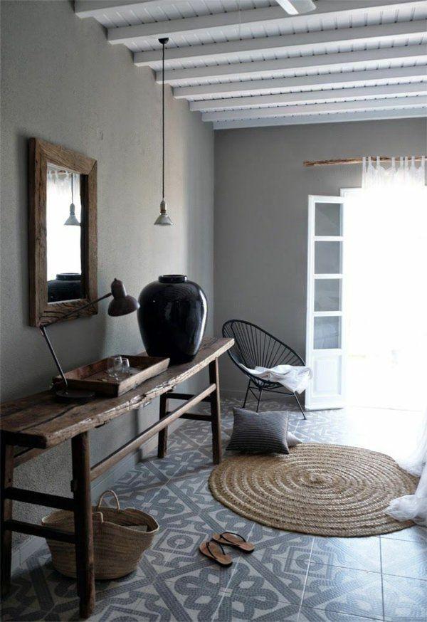 wohnzimmer landhausstil rattanmöbel holzmöbel