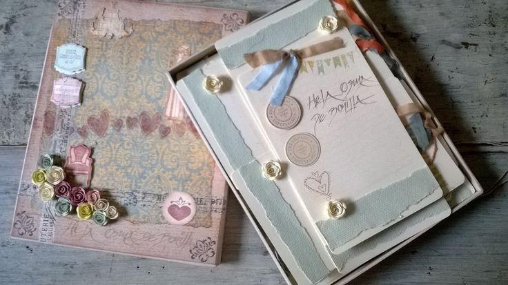 Tarjetas de Cumpleaños con tarjetas ambientadas para compartir mensajes y sentimientos en caligrafía hecha a mano. Diseños personalizados en Vintage y Scrap, presentadas en caja decorativa,