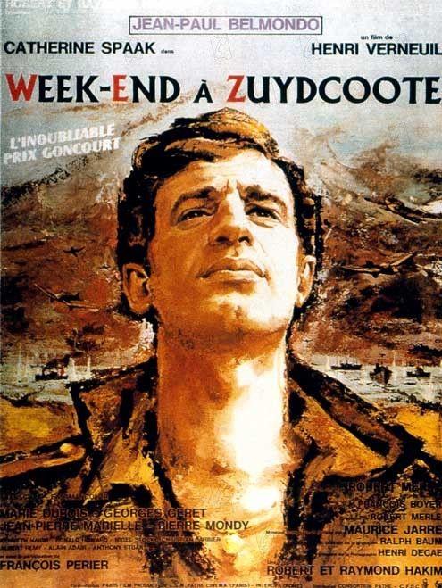 Week-end à Zuydcoote est un film franco-italien réalisé par Henri Verneuil, sorti en 1964. En juin 1940, durant la Bataille de Dunkerque, sous les bombardements allemands, les troupes françaises et anglaises sont terrées sur les plages en attendant leur embarquement pour l'Angleterre. Julien Maillat, un jeune soldat français, rencontre Jeanne, une jeune femme retranchée dans sa maison...
