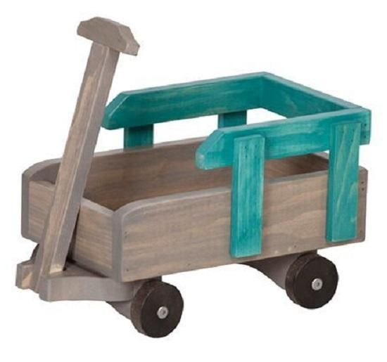 """12"""" - 18"""" BABY DOLL PULL WAGON in 3 Finishes - Amish Handmade Play Furniture"""