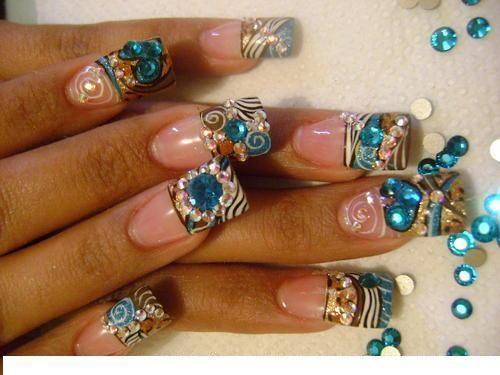 Más de 1000 ideas sobre Uñas Acrilicas Azules en Pinterest