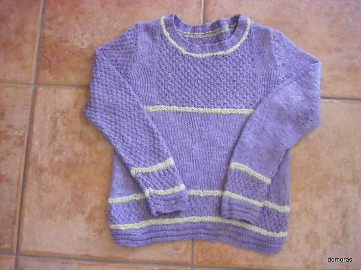 MELINDA, knitting pattern for kid jumper from domoras
