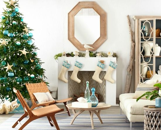 620 Best Images About Coastal Christmas Decor On Pinterest