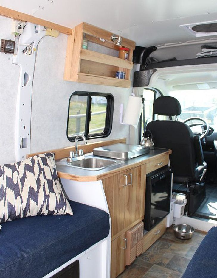 how to convert cargo van to camper van autos post. Black Bedroom Furniture Sets. Home Design Ideas