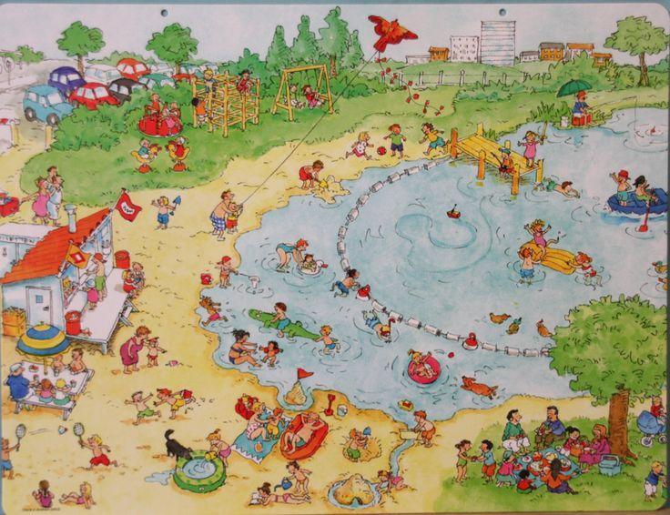 Praatplaat Bas - Een dagje naar het strand (getekend door Dagmar Stam)