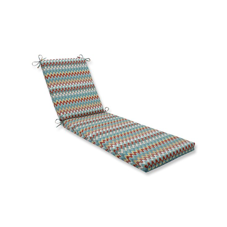 Pillow Perfect Outdoor/Indoor Nivala Southwestern Chaise Lounge Cushion 80x23x3