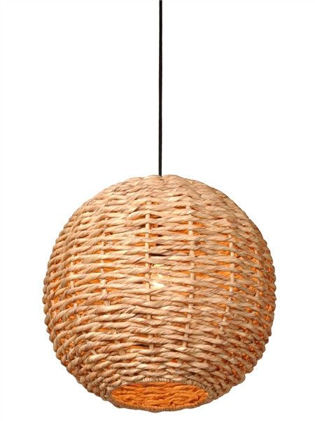 Water Hyacinth Ball Pendant Light design by Emissary