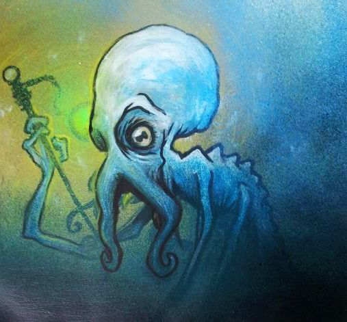 blue octopus, with hands https://www.facebook.com/pages/Bango-Skank/360778760675199
