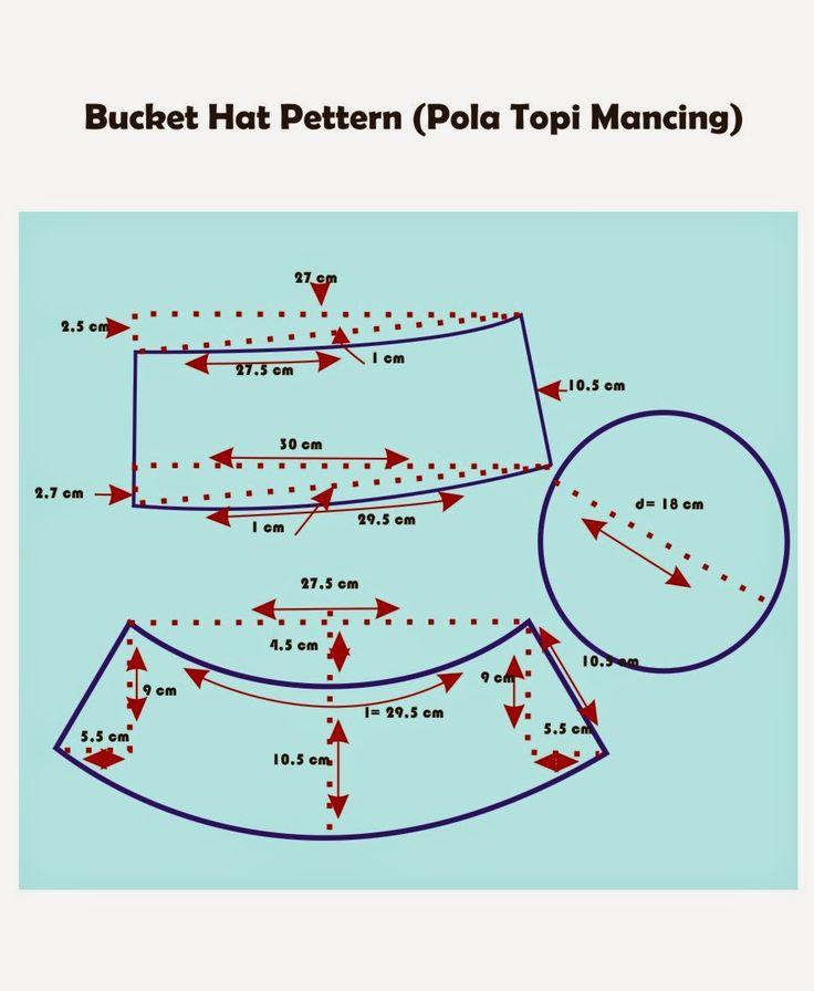 chenik handmade and craft: Pola Topi Mancing (Bucket Hat Pettern)