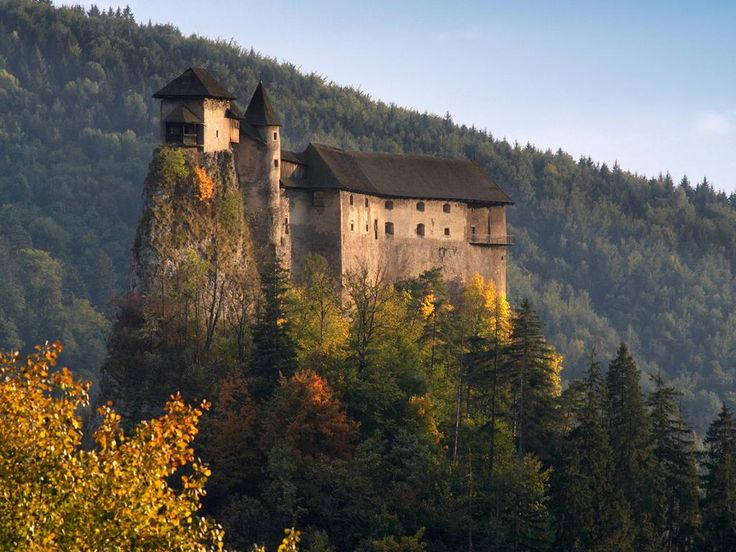 Orava Castle, Slovakia was built in the Kingdom of Hungary in 13th century and became a national monument after WW2