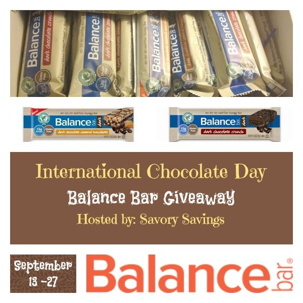 Enter To Win The Balance Bar Chocolate Day Giveaway Ends Sept 27 2014