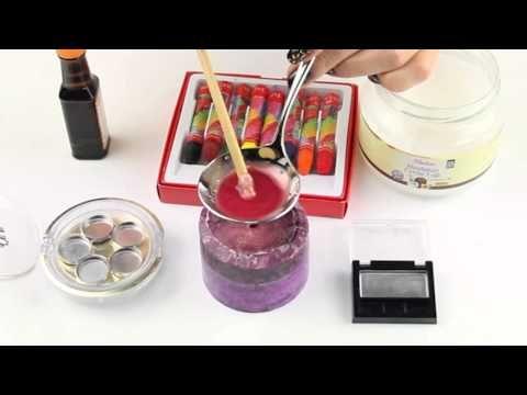 Pastel boyalar ile ruj yapmak - YouTube