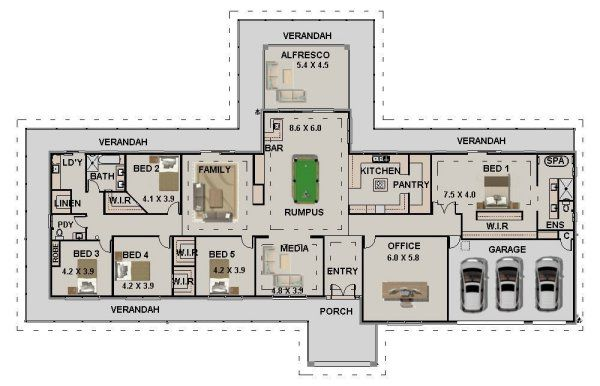 Country Style Homestead Australian House Plans House Plans Australia Country House Plans