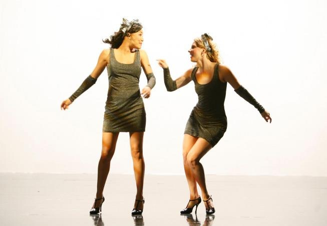 """Brittana! Brittany and Santana in the """"Dance With Somebody"""" episode. Original Air Date 4/24/2011"""