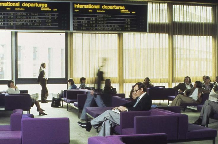 Melbourne Airport International Departure lounge 1970's