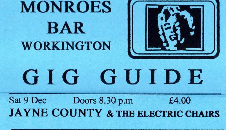 Jayne County & The Electric Chairs.Workington UK. 9/12/95.