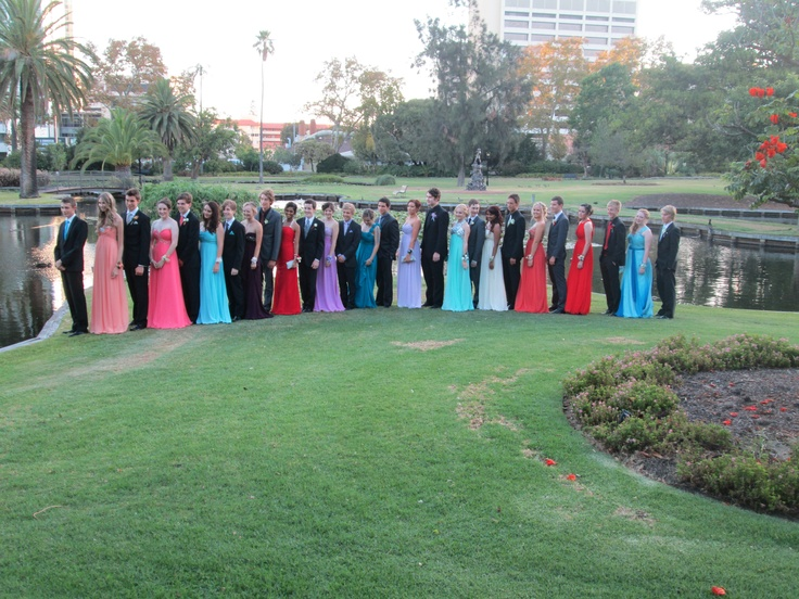 Photos at Queens Gardens, East Perth for a school ball at the nearby Hyatt Hotel