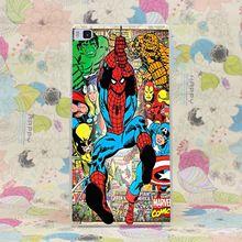 933HJ Spider Man super herói Marvel Comics caso capa dura para Huawei P6 P7 P8 P9 Lite mais Honor 6 7 4C 4X G7(China (Mainland))